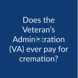 Cremation FAQ: Does the Veteran's Association Ever Pay